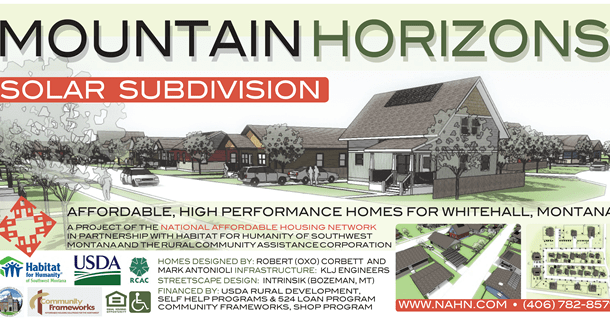 Housing Opportunities – Mountain Horizons Subdivision Whitehall Montana