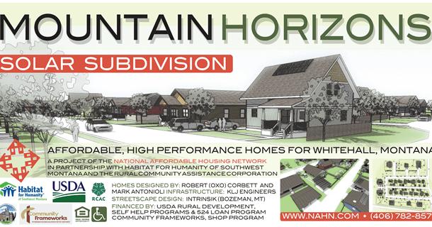 Housing Opportunities – Mountain Horizons Subdivision Whitehall Montana