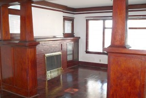 Restored hardwood floors at 304 N Washington