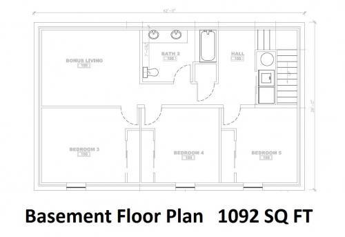 942 N Main B - Floor Plan